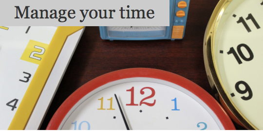 Time management between college and busy